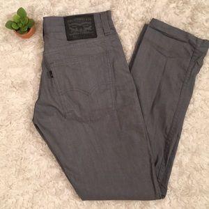 Gray Levi Strauss 511 men skinny jeans